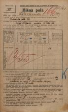 Popis prebivalstva 20. 12. 1921<br />Ljubljana<br />Kolodvorska cesta 209<br />Population census 20 December 1921