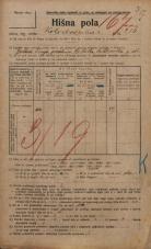Popis prebivalstva 20. 12. 1921<br />Ljubljana<br />Kolodvorska cesta 216<br />Population census 20 December 1921