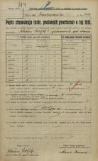Popis prebivalstva 20. 12. 1921<br />Ljubljana<br />Kolodvorska cesta - Frankopanska ulica 209<br />Population census 20 December 1921