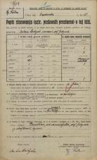 Popis prebivalstva 20. 12. 1921<br />Ljubljana<br />Kolodvorska cesta - Lepodvorska ulica 184<br />Population census 20 December 1921