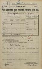 Popis prebivalstva 20. 12. 1921<br />Ljubljana<br />Kolodvorska cesta - Lepodvorska ulica 185<br />Population census 20 December 1921