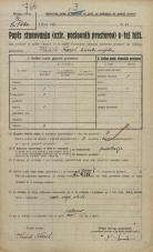 Popis prebivalstva 20. 12. 1921<br />Ljubljana<br />Kolodvorska cesta NN1<br />Population census 20 December 1921