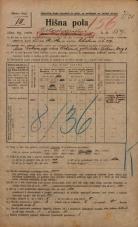 Popis prebivalstva 20. 12. 1921<br />Ljubljana<br />Kolodvorska cesta - Žibertova ulica 159<br />Population census 20 December 1921