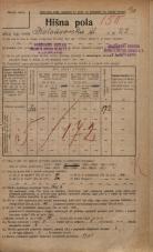 Popis prebivalstva 20. 12. 1921<br />Ljubljana<br />Kolodvorska ulica 22<br />Population census 20 December 1921