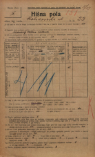 Popis prebivalstva 20. 12. 1921<br />Ljubljana<br />Kolodvorska ulica 23<br />Population census 20 December 1921