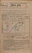 Popis prebivalstva 20. 12. 1921<br />Ljubljana<br />Kolodvorska ulica 24<br />Population census 20 December 1921