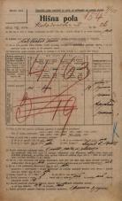 Popis prebivalstva 20. 12. 1921<br />Ljubljana<br />Kolodvorska ulica 26<br />Population census 20 December 1921