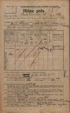Popis prebivalstva 20. 12. 1921<br />Ljubljana<br />Kolodvorska ulica 27<br />Population census 20 December 1921