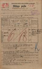 Popis prebivalstva 20. 12. 1921<br />Ljubljana<br />Kolodvorska ulica 28<br />Population census 20 December 1921