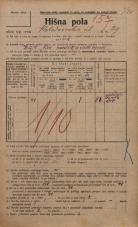 Popis prebivalstva 20. 12. 1921<br />Ljubljana<br />Kolodvorska ulica 29<br />Population census 20 December 1921