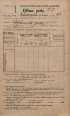 Popis prebivalstva 20. 12. 1921<br />Ljubljana<br />Kolodvorska ulica 36<br />Population census 20 December 1921
