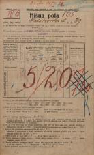 Popis prebivalstva 20. 12. 1921<br />Ljubljana<br />Kolodvorska ulica 39<br />Population census 20 December 1921