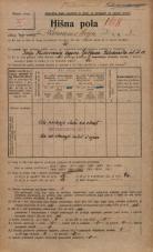 Popis prebivalstva 20. 12. 1921<br />Ljubljana<br />Kolodvorska ulica - Komenskega ulica 3<br />Population census 20 December 1921