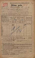 Popis prebivalstva 20. 12. 1921<br />Ljubljana<br />Komenskega ulica 4<br />Population census 20 December 1921