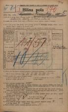 Popis prebivalstva 20. 12. 1921<br />Ljubljana<br />Komenskega ulica 5<br />Population census 20 December 1921