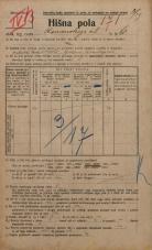 Popis prebivalstva 20. 12. 1921<br />Ljubljana<br />Komenskega ulica 6<br />Population census 20 December 1921