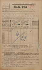 Popis prebivalstva 20. 12. 1921<br />Ljubljana<br />Komenskega ulica 7<br />Population census 20 December 1921