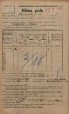 Popis prebivalstva 20. 12. 1921<br />Ljubljana<br />Komenskega ulica 8<br />Population census 20 December 1921
