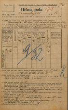Popis prebivalstva 20. 12. 1921<br />Ljubljana<br />Komenskega ulica 16<br />Population census 20 December 1921