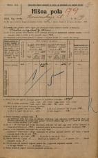 Popis prebivalstva 20. 12. 1921<br />Ljubljana<br />Komenskega ulica 19<br />Population census 20 December 1921