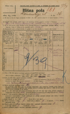 Popis prebivalstva 20. 12. 1921<br />Ljubljana<br />Komenskega ulica 26<br />Population census 20 December 1921