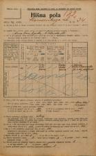 Popis prebivalstva 20. 12. 1921<br />Ljubljana<br />Komenskega ulica 34<br />Population census 20 December 1921