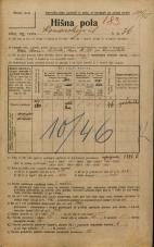 Popis prebivalstva 20. 12. 1921<br />Ljubljana<br />Komenskega ulica 36<br />Population census 20 December 1921