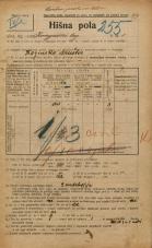 Popis prebivalstva 20. 12. 1921<br />Ljubljana<br />Kongresni trg 1<br />Population census 20 December 1921