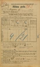 Popis prebivalstva 20. 12. 1921<br />Ljubljana<br />Kongresni trg 11<br />Population census 20 December 1921