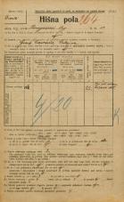 Popis prebivalstva 20. 12. 1921<br />Ljubljana<br />Kongresni trg 13<br />Population census 20 December 1921