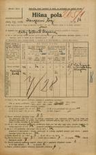 Popis prebivalstva 20. 12. 1921<br />Ljubljana<br />Kongresni trg 14<br />Population census 20 December 1921