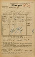 Popis prebivalstva 20. 12. 1921<br />Ljubljana<br />Kongresni trg 15<br />Population census 20 December 1921