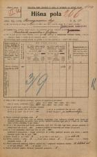 Popis prebivalstva 20. 12. 1921<br />Ljubljana<br />Kongresni trg 17<br />Population census 20 December 1921