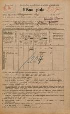Popis prebivalstva 20. 12. 1921<br />Ljubljana<br />Kongresni trg 18<br />Population census 20 December 1921