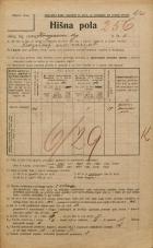 Popis prebivalstva 20. 12. 1921<br />Ljubljana<br />Kongresni trg 2<br />Population census 20 December 1921