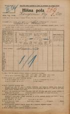 Popis prebivalstva 20. 12. 1921<br />Ljubljana<br />Kongresni trg 20<br />Population census 20 December 1921