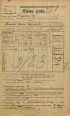 Popis prebivalstva 20. 12. 1921<br />Ljubljana<br />Kongresni trg 7<br />Population census 20 December 1921