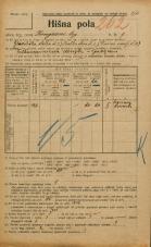 Popis prebivalstva 20. 12. 1921<br />Ljubljana<br />Kongresni trg 9<br />Population census 20 December 1921