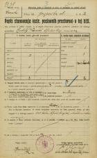 Popis prebivalstva 20. 12. 1921<br />Ljubljana<br />Kongresni trg - Gosposka ulica 2<br />Population census 20 December 1921
