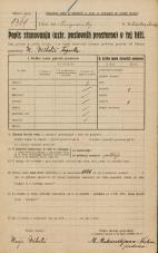 Popis prebivalstva 20. 12. 1921<br />Ljubljana<br />Kongresni trg NN1<br />Population census 20 December 1921
