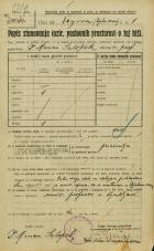 Popis prebivalstva 20. 12. 1921<br />Ljubljana<br />Kongresni trg - Vegova ulica 1<br />Population census 20 December 1921