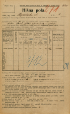 Popis prebivalstva 20. 12. 1921<br />Ljubljana<br />Kopališka ulica 2<br />Population census 20 December 1921