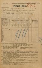 Popis prebivalstva 20. 12. 1921<br />Ljubljana<br />Kopališka ulica 4<br />Population census 20 December 1921