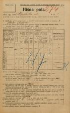 Popis prebivalstva 20. 12. 1921<br />Ljubljana<br />Kopališka ulica 5<br />Population census 20 December 1921