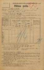 Popis prebivalstva 20. 12. 1921<br />Ljubljana<br />Kopališka ulica 6<br />Population census 20 December 1921