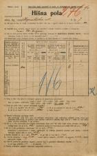 Popis prebivalstva 20. 12. 1921<br />Ljubljana<br />Kopališka ulica 7<br />Population census 20 December 1921