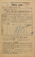 Popis prebivalstva 20. 12. 1921<br />Ljubljana<br />Kopališka ulica 8<br />Population census 20 December 1921