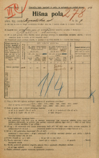 Popis prebivalstva 20. 12. 1921<br />Ljubljana<br />Kopališka ulica 9<br />Population census 20 December 1921
