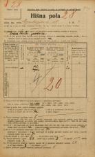 Popis prebivalstva 20. 12. 1921<br />Ljubljana<br />Kopitarjeva ulica 4<br />Population census 20 December 1921