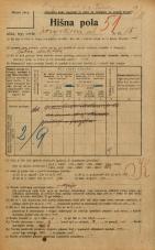 Popis prebivalstva 20. 12. 1921<br />Ljubljana<br />Korytkova ulica 18<br />Population census 20 December 1921